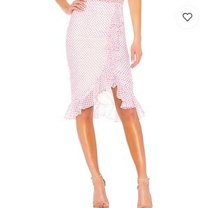 Suffolk Skirt In Lipstick Dot